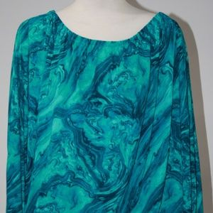 MICHAEL KORS TURQUOISE SHIRT SIZE SMALL